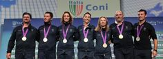 Tripletta fioretto: Di Francisca, Errigo, Vezzali    vd      Italia oro nell'arco  -   foto .   Tiro, Tesconi argento