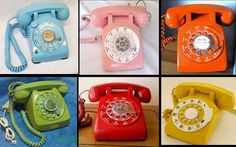 rotary phones (we had red).
