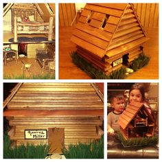 Lincoln Log Cabin... Presidents Day Preschool Craft