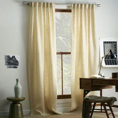 Burlap Curtain - Ivory 44x96 $64 per panel