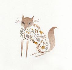 Twig Fox at Rest by Julianna Swaney