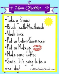 Moms morning checklist #inspireothers