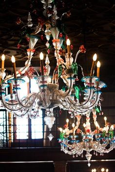 Murano Glass Chandelier in Venice, Italy.