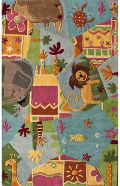 Rugs USA Cradle Animal Friends Multi Rug