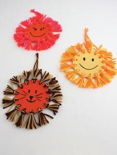 Kids' Craft Sunshine Wall Hanging - great afternoon craft idea