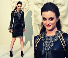 paris, chanel, fashion, style, gossip girl, leighton meester, leather, black, haute couture