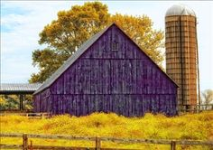 colorful barns, purple barn, purpl barn
