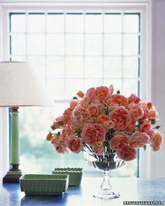 Domed Rose Arrangement - Ahhhh Love This Arrangement In Simple Glass Compote.