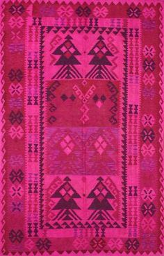 Laur's Room - Rugs USA Overdyed KLM576 Pink Rug