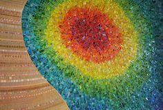Nebula Chroma mosaic wall by Sonia King, main lobby Children's Medical center of Dallas