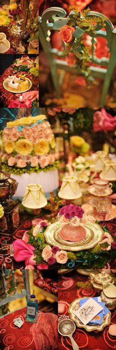 table settings, alic parti, tea parti, idea, colors, teas, parties, alice in wonderland, bridal shower