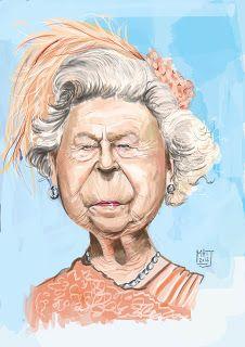 The Queen by Matt Ryder Caricature