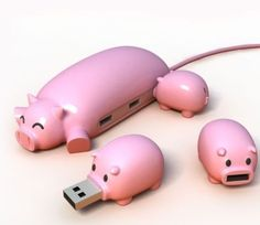 Pig and piglets USB hub