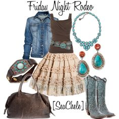 Rodeos aren't my thing, but I love this outfit.   Well, a rodeo could be fun to watch... but. xD