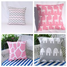 Pillows Decorative Throw Pillows Kids Room Baby by PillowsByJanet, $64.00...I think we are gonna go with a giraffe theme so if it's a girl these would be PERFECT!!!!
