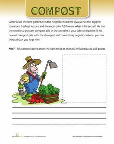 Worksheets: Compost Fun Page