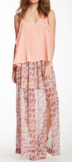 Floral maxi skirt