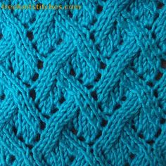 Interlacement  knitting stitches knit stitch