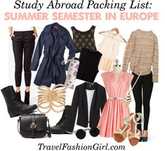 Study Abroad Packing List - Summer Semester in Europe #travel #packinglist via TheCollegeTourist.com