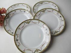 Vintage Noritake The Sahara Pink Gold Floral Bread by thechinagirl, $18.50