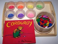 Sorting Colored Buttons Tot Tray