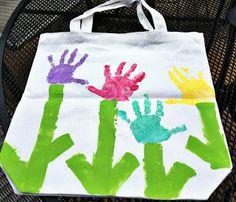 Handprint Tote Bag with Kids' Handprint