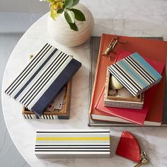 In a palette of cool California colors, these Surf Stripe Boxes are cheerful catchalls for all your treasured bits and pieces.