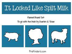 It Looked Like Spilt Milk Flannel Board Set