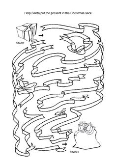 Christmas maze - Re-pinned by @PediaStaff – Please Visit http://ht.ly/63sNt for all our pediatric therapy pins