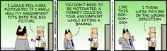Dilbert: Motivation at work.