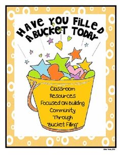 bucket filling and dipping notes!