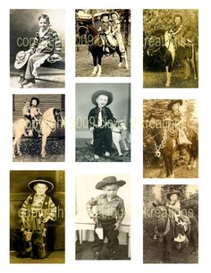 LITTLE COWBOYS And COWGIRLS VINTAGE IMAGES.