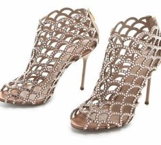Sergio Rossi crystal booties