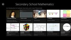Secondary School Mathematics. // This is the first in a series of applications built around the secondary school mathematics curriculum. This application contains three chapters. The first is an Introduction to Cartesian geometry. The second is a complete discussion on linear polynomial expressions, equations and functions, whereas the third chapter is a complete discussion of quadratic expressions, equations and functions.