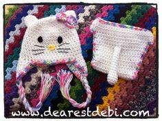 Newborn Hello Kitty Hat & Diaper Cover « The Yarn Box