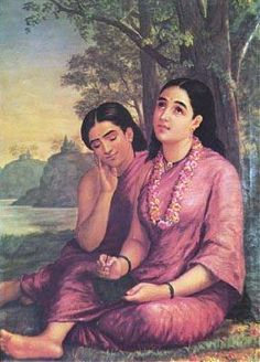 Raja Ravi Varma oil painting