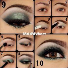 Green Eye Makeup Tutorial makeup eyes, eye colors, brown eye, dramatic eyes, makeup looks, hazel eyes, green eyes, wedding makeup, eye makeup tutorials
