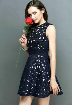 Navy Hollow Dress