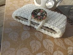 Aran or Any Color  Crochet Cell Phone Iphone by CraftCoalition, $5.00