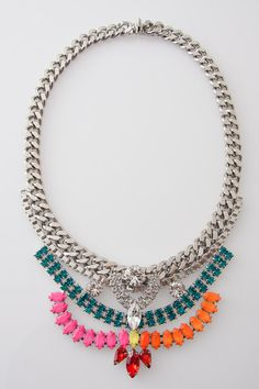 "17"" Melanie Necklace in Silver by Courtney Lee for $569.00"