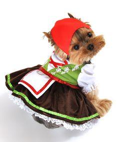 Loving this Green Alpine Girl Dog Costume on #zulily! #zulilyfinds