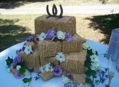 Haybale wedding cake ~love this!!