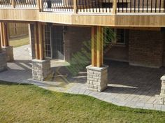 Walk out deck with space below