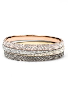 I only want one of each of these $150  Nadri Micro Pavé Bangles. ;-)