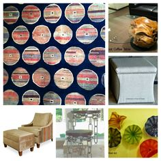 A photo collage of furnishings selected for a client's great room design