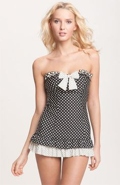 Betsey Johnson 'Pinwheel' Skirted One Piece Swimsuit