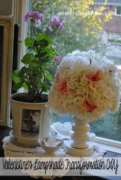 Minerva's Garden:  Valentine's Lampshade Transformation DIY