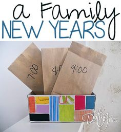 Fun ways to celebrate New Year's as a family!  www.TheDatingDivas.com