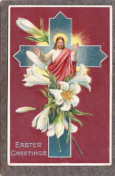antique EASTER Jesus Flowers early German series 1054 c19...Jesus Postcard embos    http://postcards.bidstart.com/antique-EASTER-Jesus-Flowers-early-German-series-1054-c19-/33679154/a.html