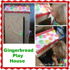Gingerbread House from Cardboard Box